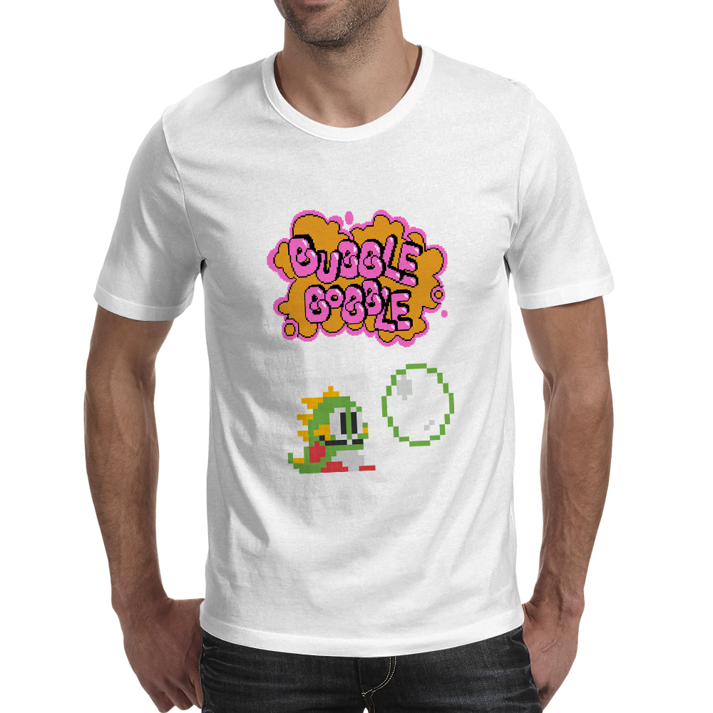Bubble Bobble T Shirt 80s 70s FC Console Game Funny Skate