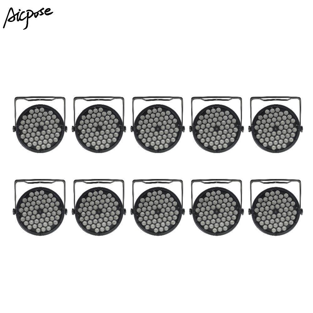 Lights & Lighting Commercial Lighting Beautiful 10pcs/lots 54x3w 3 In 1 Led Par Lights Par Led 54*3w Rgb Lights Wall Washer Disco Light With Dmx512 Control Effect Stage Light Smoothing Circulation And Stopping Pains