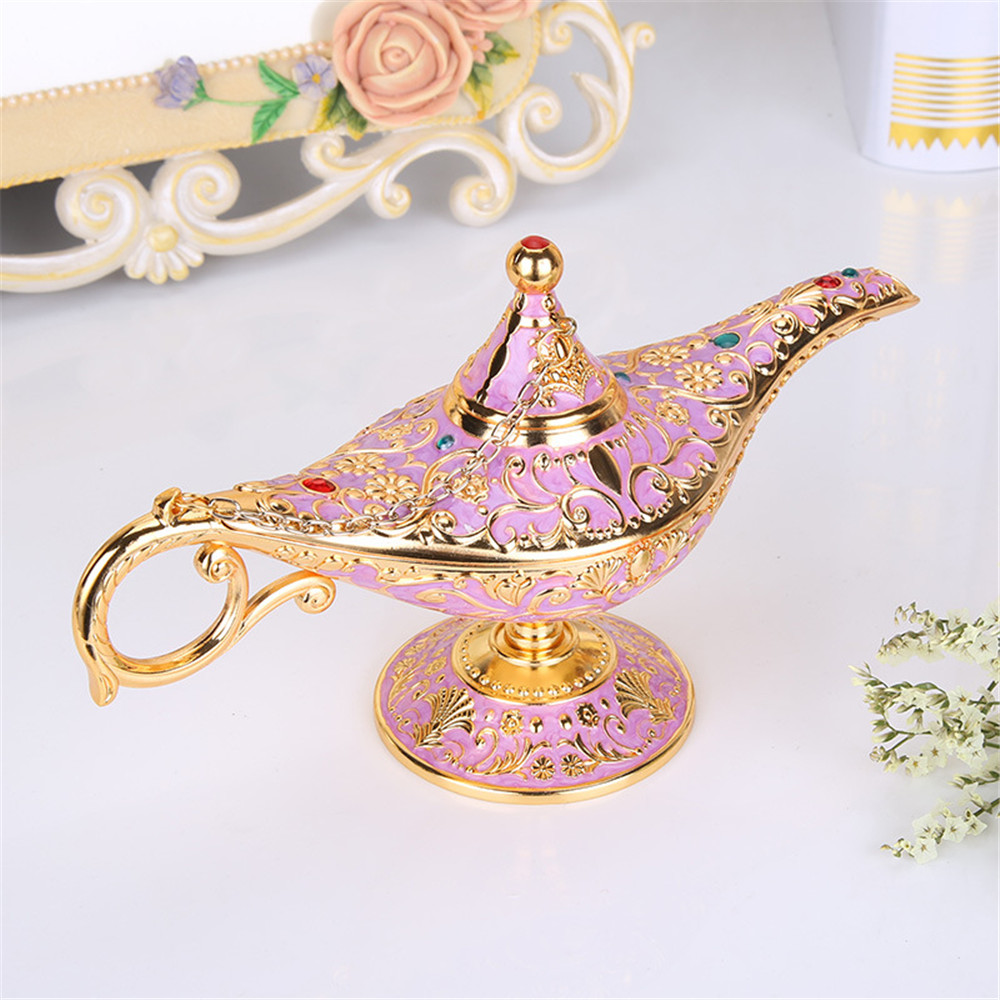 cosplay Antique Style Fairy Tale Aladdin Magic Lamps Tea Pot Genie Lamp Vintage Retro Toys For Children Home Decoration Gifts Ha
