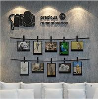 2017 New Arrival SLR camera memories 3D wall stickers Photo wall living room sofa decorated bedroom Acrylic stickers Art Deco