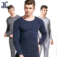 JL Winter Thermal Underwear Male Set M-4XL Winter Cold Protection Thick Sleepwear for Men Warm Pants Thermal Tops Long Johns