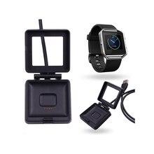 Carregador de Energia Dock para Fitbit Viajantes e Usuários Cabo USB de Carregamento DA Bateria Chama Smart Relógio Conveniente para Negócios Et228