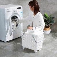 Multifunctional Hamper Plastic Laundry Basket Bathroom Toilet Clothes Dirty Clothes Storage Basket 2