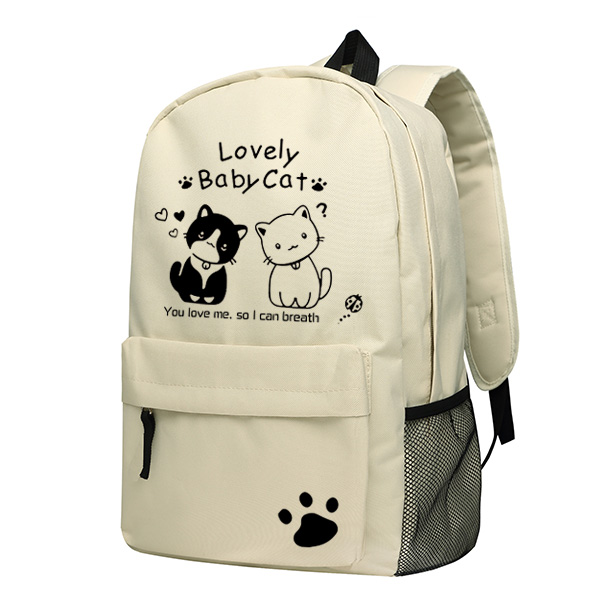 Cute Cat Academy Wind Korean version of the campus cartoon primary school bag middle school students female shoulder bag backpac