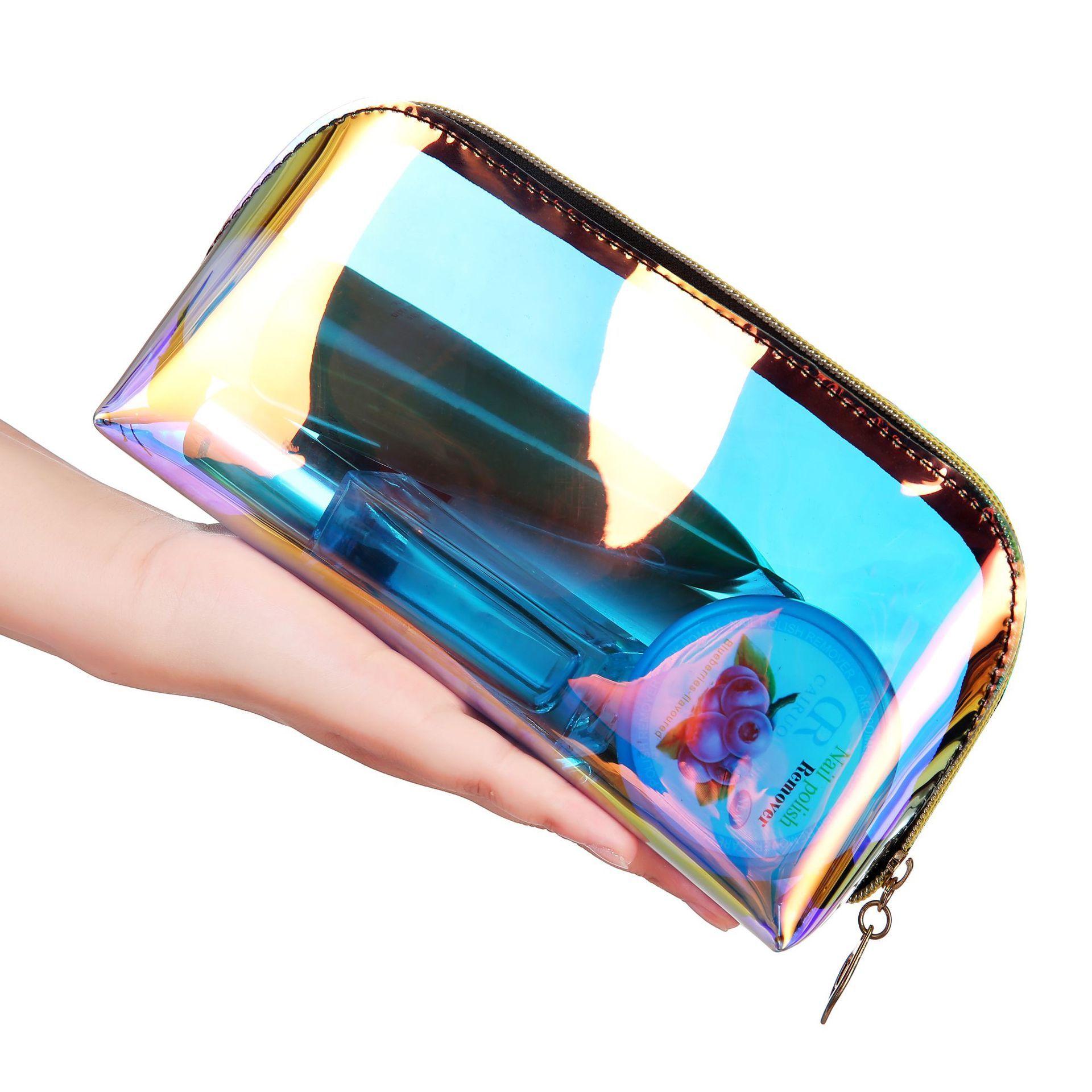Bolsa de almacenamiento de cosméticos Transparente Bolsa de viaje impermeable organizador de maquillaje bolsas de aseo transparentes portátiles cierre de cremallera Bolsa Transparente