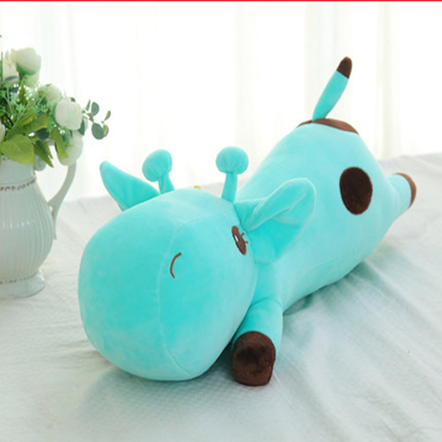 Plush Cute Soft Animal Toy Giraffe Plush Doll Birthday Gift Toys For Children Baby Sleep Plush Animal Doll Hold Pillow 70C0049  lovely sing dance dog toy pusheen cotton soft plush hold doll antistress for children baby