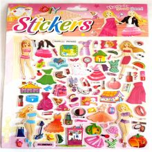 super big size dress up doll sticker 3D bubble stickers 32.5cm*21.5(China)