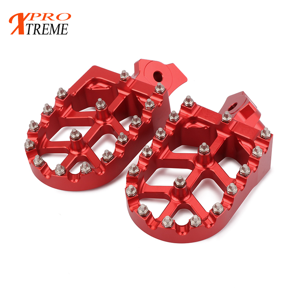 CNC Billet Red MX Wide Foot Pegs Rests Pedals Footpegs For KAWASAKI KLR 650 1987-2005 05 04 03 02 01 99 98 97 96 95 94 93 92 91 стоимость