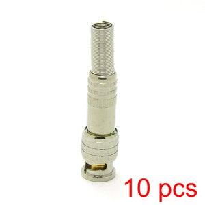 10x пайки BNC штекер соединителя к RG59 коаксиальный кабель муфта CCTV адаптер