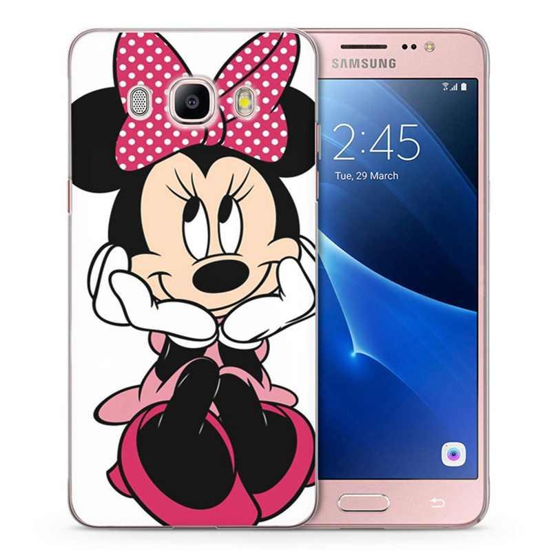 Caso Para Samsung Galaxy A3 A5 2016 2015 prime 2017 J2 J3 J5 J7 Mickey Minnie TPU Macio Colorido Caso Pintado Design Fundas C090
