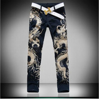 Free Delivery 2017 Hot Men S Jeans Slim Fancy Mens Jeans Pants Men S Gothic Trousers