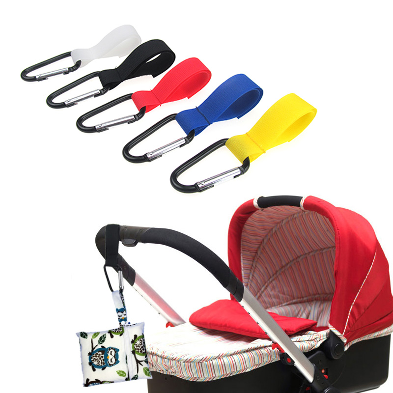 2Pcs/Lot Hot Selling 2Pcs Shopping Bag Stroller Hook For Wheelchair Stroller Carabiner Clip Baby Carriage Bag Hooks