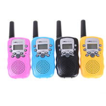 2pcs Mini Child Kids Walkie Talkie Parenting Game Mobile Phone Telephone Talking Toy 0.4-2KM Range for kids 4 Color