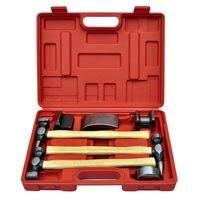 New Style Generic 7pc Car Auto Bodywork Body Beating Beater Panel Dent Repair Tool Kit Hammer Set