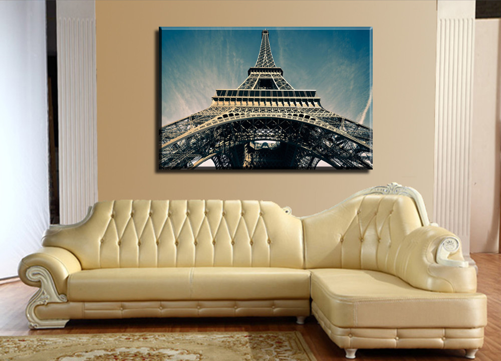Colorful Eiffel Tower Wall Decor Photo - Wall Art Collections ...