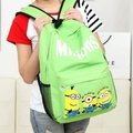 Minion School Backpack 2015 New Unisex Canvas Teenager School Bag Book Campus Back Woman backpack For Laptop Mochilas De Minions