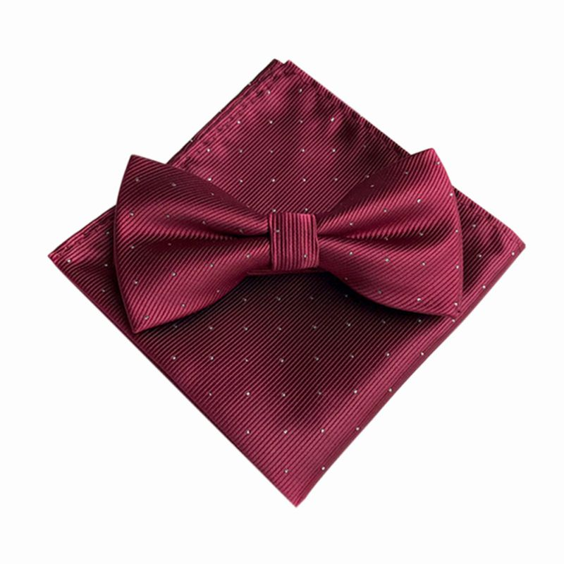 Erfinderisch 7 Farbe Mode Bogen Krawatten Sets Bräutigam Gentleman Punkte Krawatte Und Tasche Handtuch Taschentuch Hochzeit Party Business Krawatten Profitieren Sie Klein