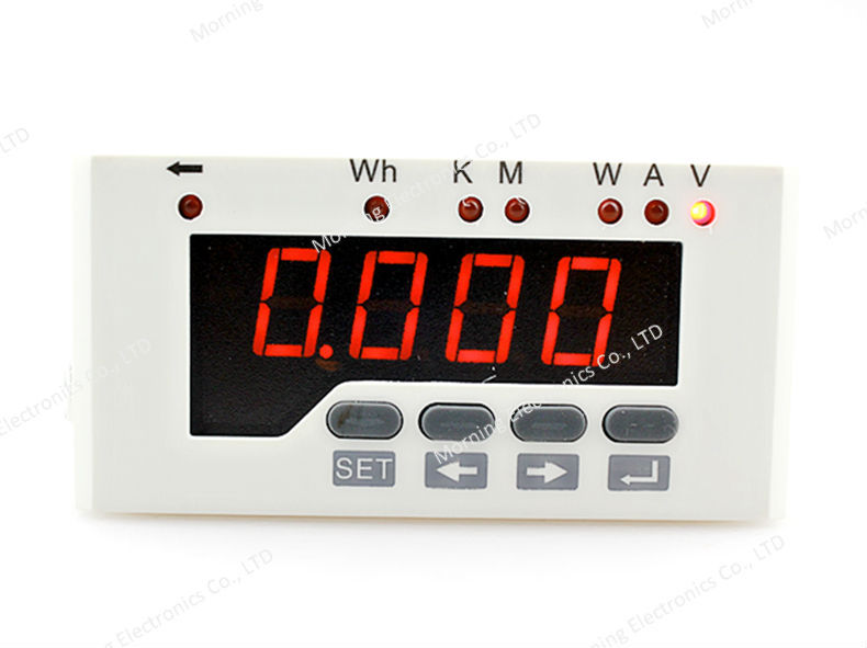 DE51-1D  Frame Size 96*48mm Single Phase DC Data Retention LED Digital Display Energy Meter With one transmitting output me 3h61 72 72mm led display 3 phase digital power factor meter support switch input and transmitting output
