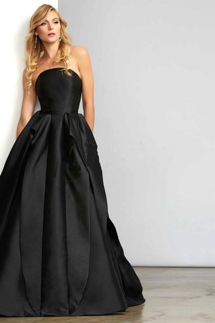 Aliexpress.com : Buy Long Black Ball Gown Evening Dresses Elegant ...