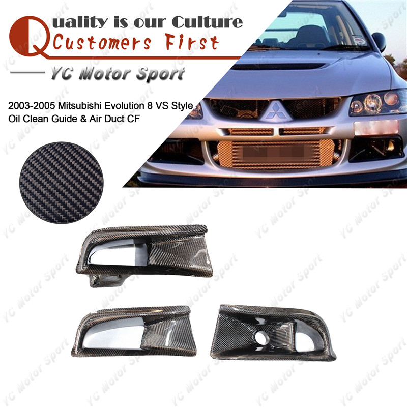 Car Accessories Carbon Fiber Air Duct & Oil Clean Guide Fit For 2003-2005 Evolution EVO 8 VS Style Oil Clean Guide & Air Duct