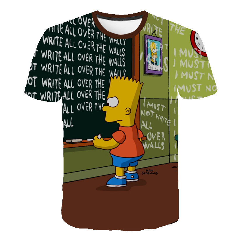 US $5 88 46% OFF|3D Printed Newest Clothing The Simpsons Man Women t shirt  Casual Harajuku Cartoon Funny Write Tshirt Street Wearing Tee-in T-Shirts