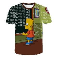 3D Printed Newest Clothing The Simpsons Man Women t-shirt Casual Harajuku Cartoon Funny Write Tshirt Street Wearing Tee