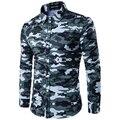Hombres Causales Camisas de Camuflaje Nueva Llegada Del Otoño de La Manera Formal de Negocios Vestido Camisas de camuflaje Camo Casual 3D