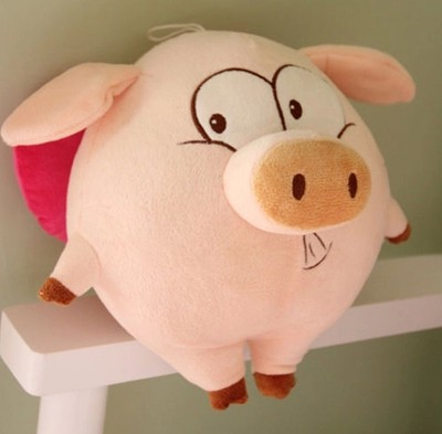 Free shipping 2015 hot Lovely angel pig doll plush toy 25cm and 55CM doll pig hug dolls lovers Christmas gift new arrived free shipping new 4 pcs set family pig plush doll soft toy father and mother pig and george 7 8 19 30 cm retail page 2