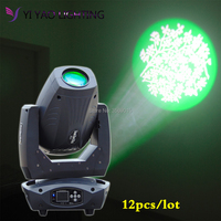 12pcs/lot DJ Lights 200W wash beam zoom gobo color Moving Head Spot Stage Light for dj lighting bar dj equipment dicsio party
