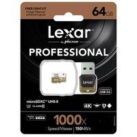 Lexar 150 МБ/с./с 1000x Micro SD 32 Гб класс 10 64 ГБ micro SDXC 128 Гб tf считыватель карт памяти UHS для дрона спортивной видеокамеры