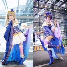 Amor En Vivo! Minami Kotori/Nico/Maiki/Hanayo/Umi Despertar Cosplay peluca Del Anime de la Muchacha Uniforme Lindo traje de Mucama traje con Capa