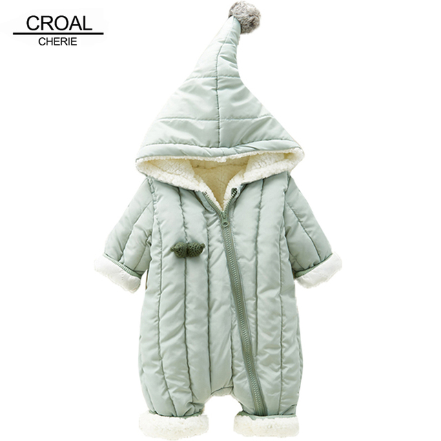 c9e075b51da0 CROAL CHERIE Warm Fleece Velvet Newborn Baby Romper Boys Girls ...