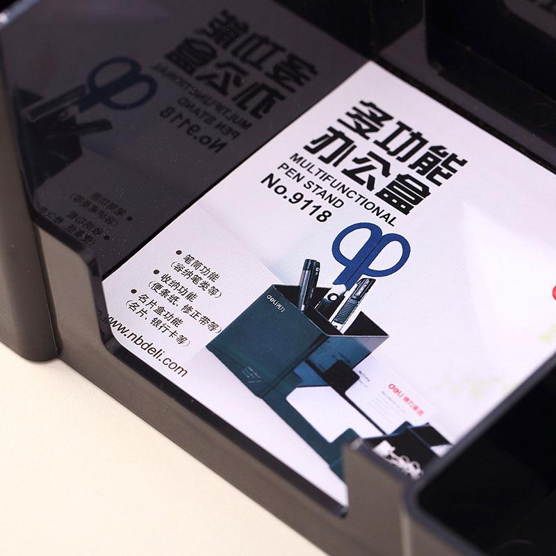 Creative Korean Desk Organizer Pen Holder Multifunctional Plastic Stationery Holders Student School Office Supplies