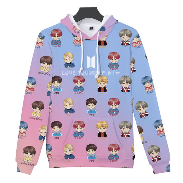 KPOP 3D Print Bangtan Boys Women Hoodies Sweatshirt K-pop Idol Fashion Hip Hop Hoodies Sweatshirt Female Fans Casual Clothes