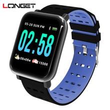 Longet Fitness Tracker A6 Heart Rate Monitor Smart Bracelet Sleep stopwatch Activity  for Running Climbing Sport