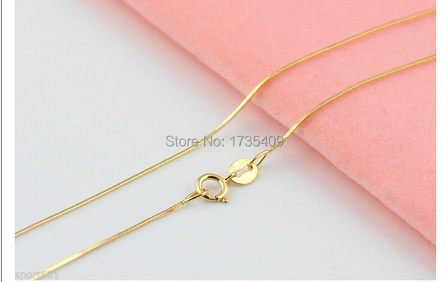 1.6G AU750  Yellow Gold Necklace / Fine Snake Chain