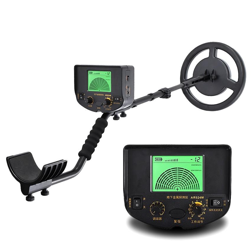 Détecteur de métaux AR924 +, détecteur de métaux souterrain avec profondeur de détection de 1.5 mètres, Mode de détection de Balance au sol/Discrimination