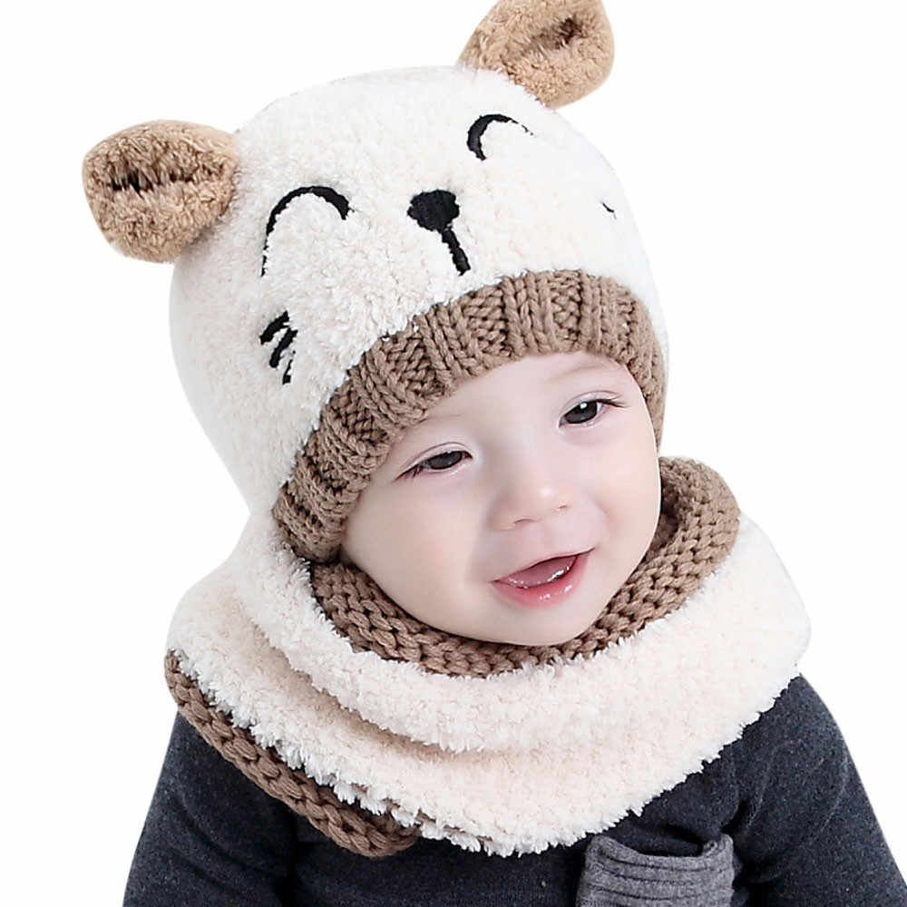 28b517fda9b259 TELOTUNY Baby Hats bonnet winter 1-3 years old caps boys girls children Hat+