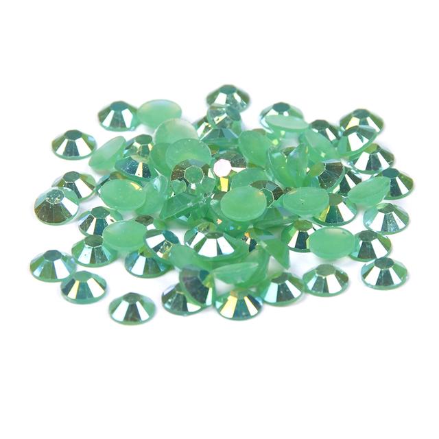 Saco a granel Resina Não Hotfix Flatback Rodada Strass Para Decorações Nail Art Glitter Cristal Pedras 2-6mm Esmeralda AB Cor