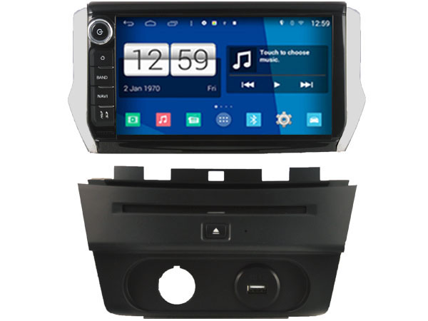 s160 android car audio for peugeot 208 2008 2014 2015 car dvd gps player navigation head unit. Black Bedroom Furniture Sets. Home Design Ideas