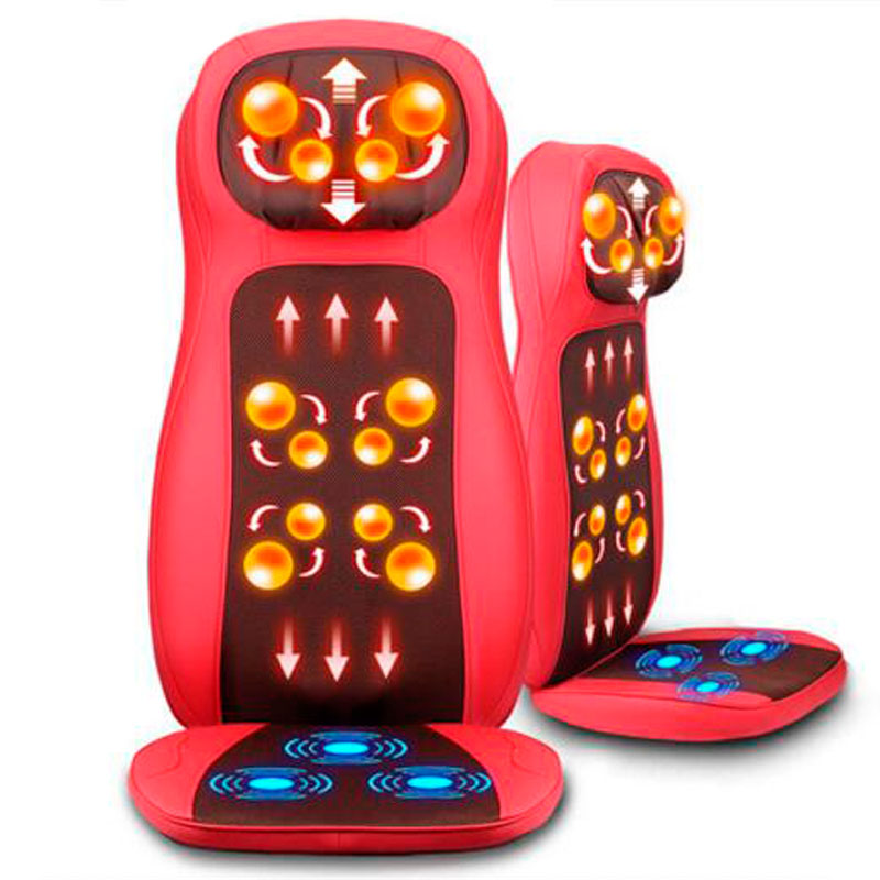 Car Multifunctional Full-body Massage Device Dual-use Massage Cushion Heated Vibration Massager Chair Mat electric full body multifunctional massage mattress vibration massage device massage cushion infrared full body massager page 5