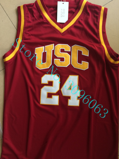 4865d54ae93 ... low price new 24 mens brian scalabrine basketball jersey usc trojans  college throwback basketball jersey stitched