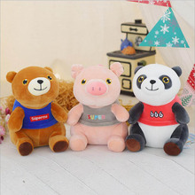лучшая цена Lovely Cartoon Pig Bear Panda Plush Toy Stuffed Animal Soft Plush Doll Toys Children & Kids Birthday Gift