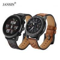 22mm pasek zegarka do Samsung Gear S3 Frontier/s3 klasyczny/galaxy zegarek 46mm/Xiaomi Huami Amazfit tempo prawdziwej skóry zegarek zespół