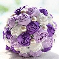 Flor de seda buquê de casamento Subiu Orquídea flores Artificiais cair vívida folha falso decoração da flor do casamento buquês de noiva