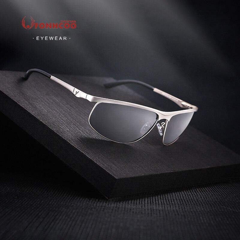 7184f4edc Fonhcoo 2017 ماركة مصمم الساخن أشعة الاستقطاب النظارات الشمسية الرجال سائق  uv400 نظارات شمسية الموضة oculos