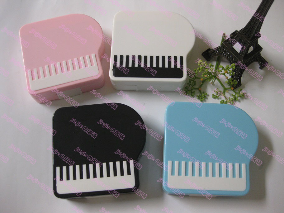 6.7 1.9 Cm Conscientious 10pcs Piano Contact Lenses Box Lovely Partner Water Wholesale Glasses Boxes Bags Mix7