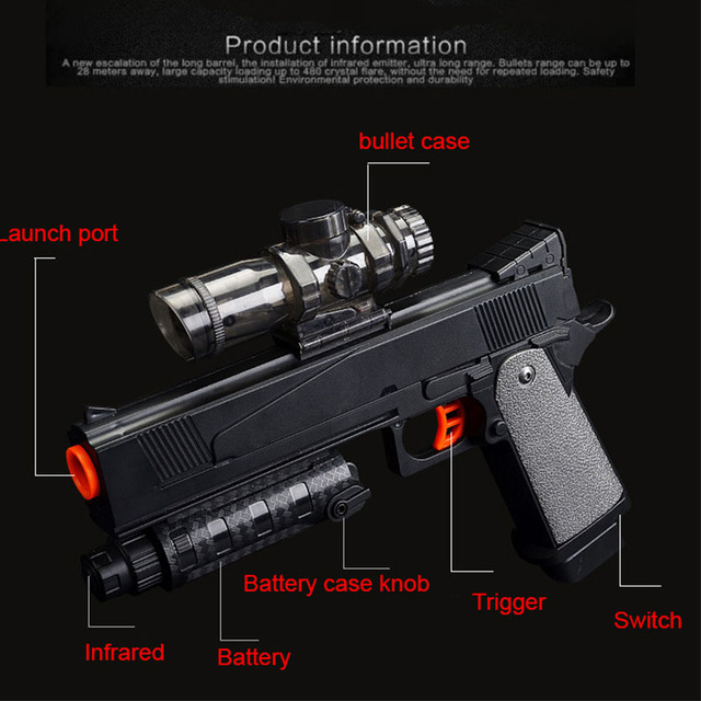 Electronic Airsoft Pistol Water Bombs Toy Boys CS Outdoor Games Orbeez Paintball Shooting Handgun Toys For Children Gifts