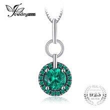 JewelryPalace Classic 0.5 ct Esmeralda Creado Piedra Colgante 100% de Plata de ley 925 No Incluye una Cadena De Marca de Joyería Fina