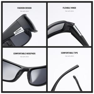 Image 4 - KDEAM Brand Mens Polarized Sunglasses TR90 Rectangle Coating Driving Glasses Sport Goggles Gafas De Sol KD111
